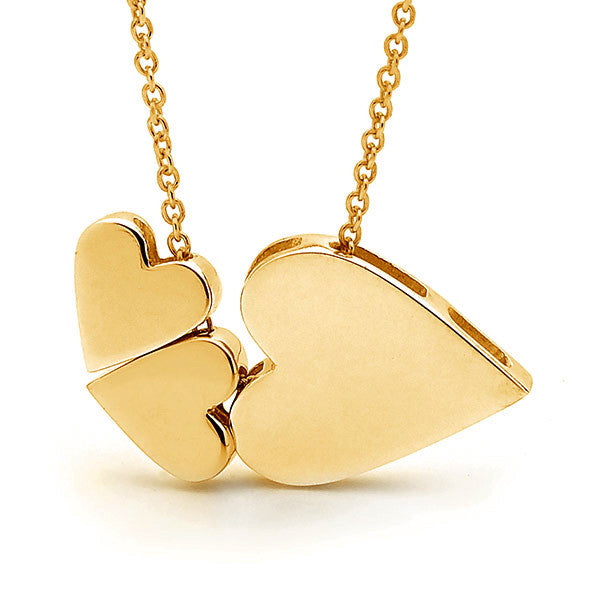 Yellow gold '3 Hearts' Necklace