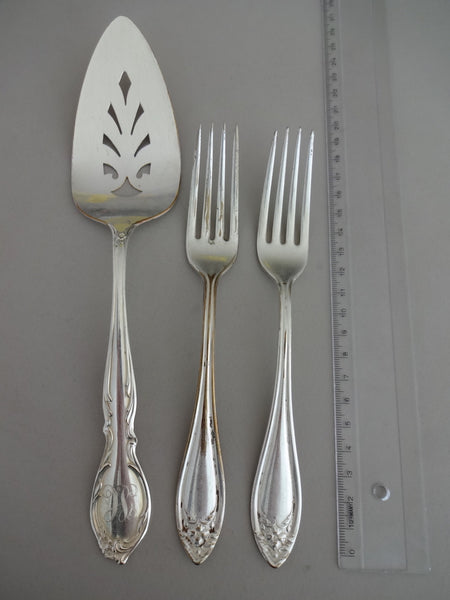 Cake Server with fork pair
