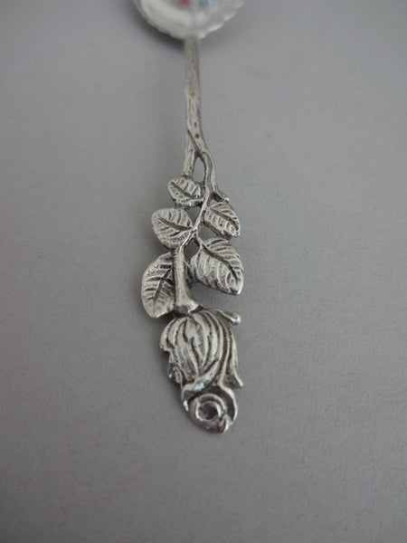 Rose sterling silver sugar spoon (small)