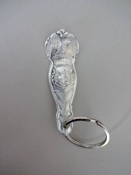 Spoon handle key ring - CALIFORNIA