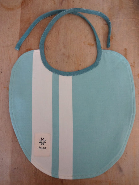 .Baby gift set: espresso spoon with fouta baby bib