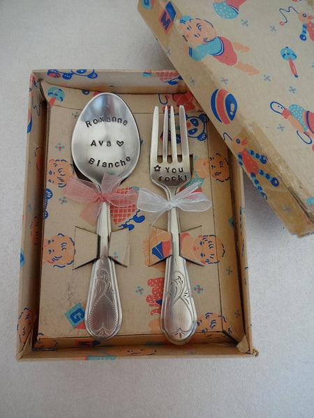 .Baby set in original box 1940's