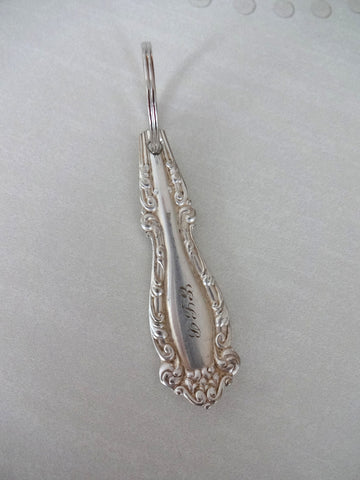 Spoon handle key ring