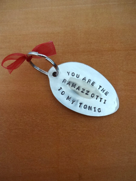 CUSTOM spoon key ring (with message)