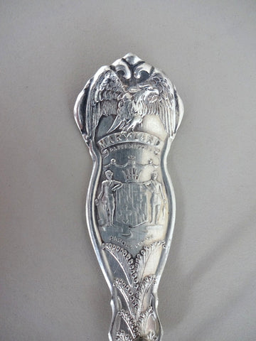 Spoon handle key ring - MARYLAND