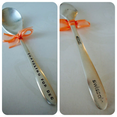 Traveling for DEC - Swissair Spoon