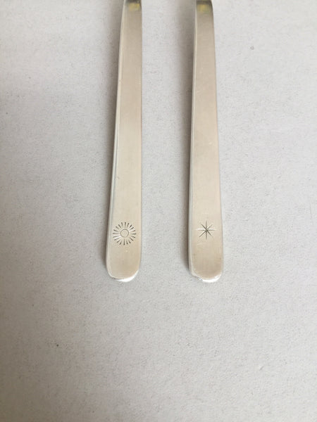 .Small forks - star & sun on handle