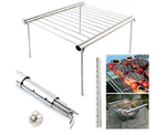 Folding And Portable Stainless Steel Charcoal BBQ Grill