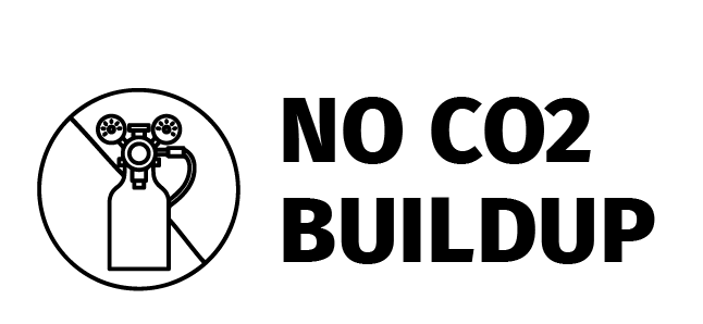 No Co2 buildup icon