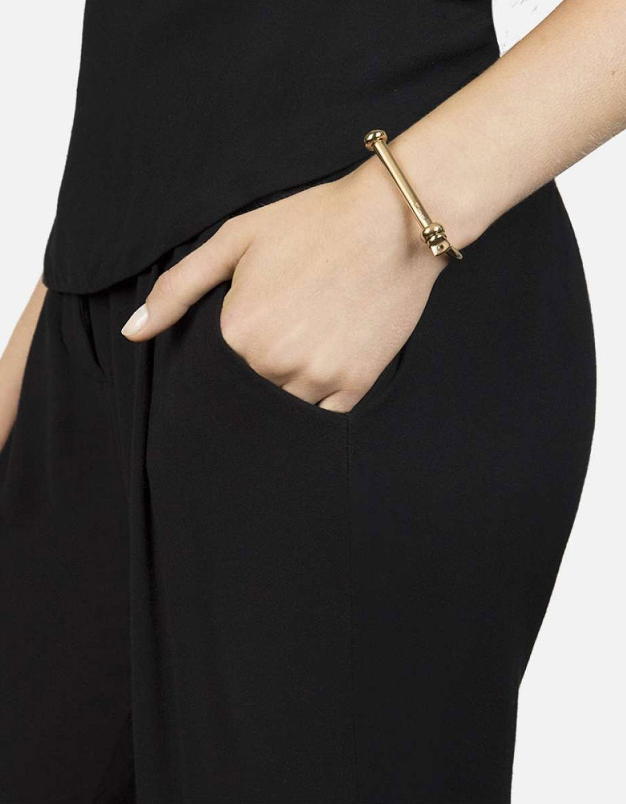 SCREW CUFF BRACELET, GOLD