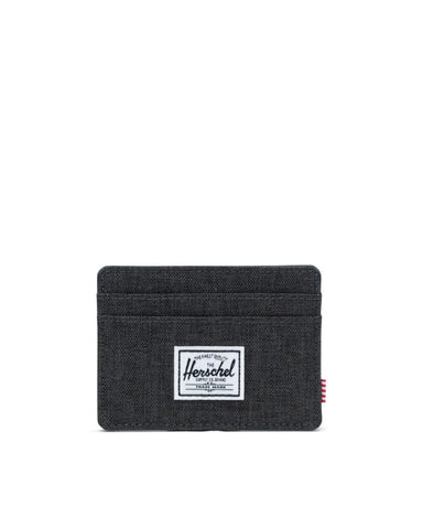Charlie Wallet Black Crosshatch
