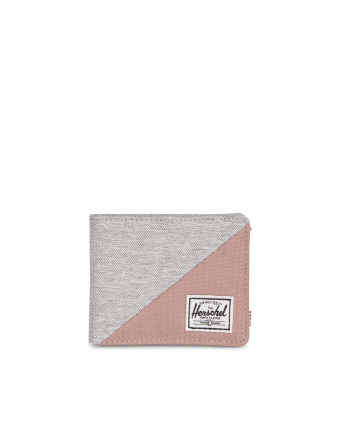 ROY WALLET LIGHT GREY CROSSHATCH / ASH ROSE