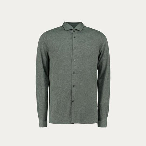 LONG SLEEVE KNIT STRECH SHIRT // GREY