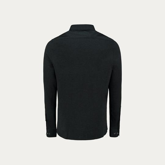 LONG SLEEVE KNIT STRECH SHIRT // NAVY