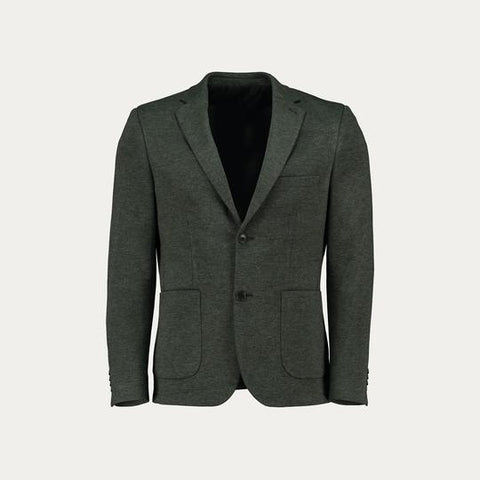 KNIT STRECH BLAZER // GREY