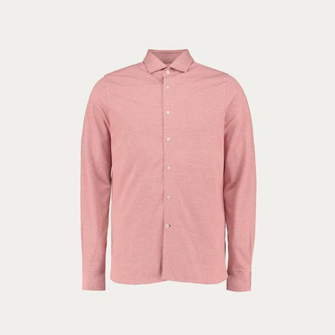 LONG SLEEVE KNIT STRECH SHIRT // PINK