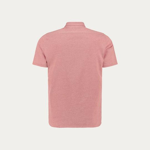 SHORT SLEEVE KNIT STRECH SHIRT // PINK