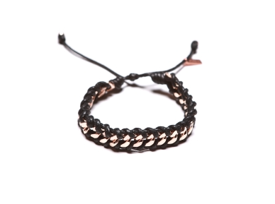 ROSE GOLD LINK 1X SINGLE BLACK