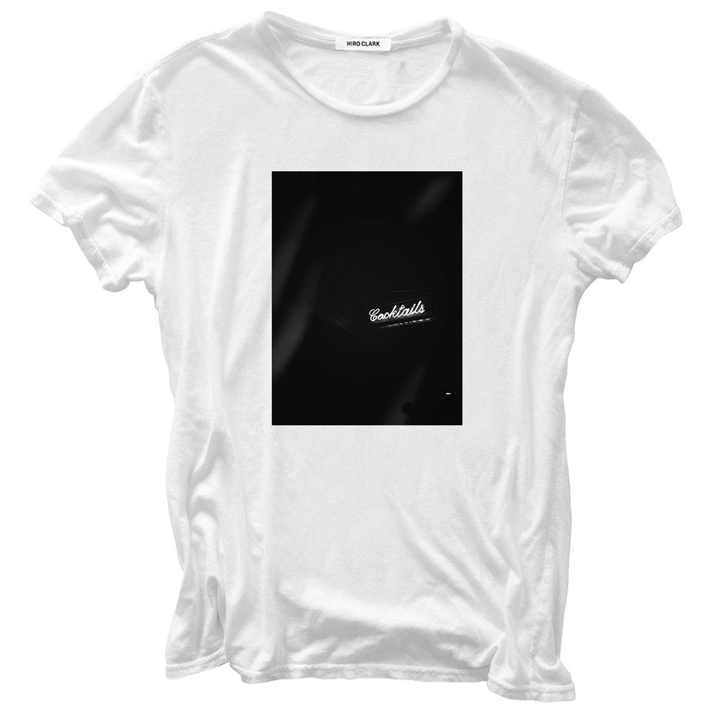 COCKTAILS TEE // WHITE