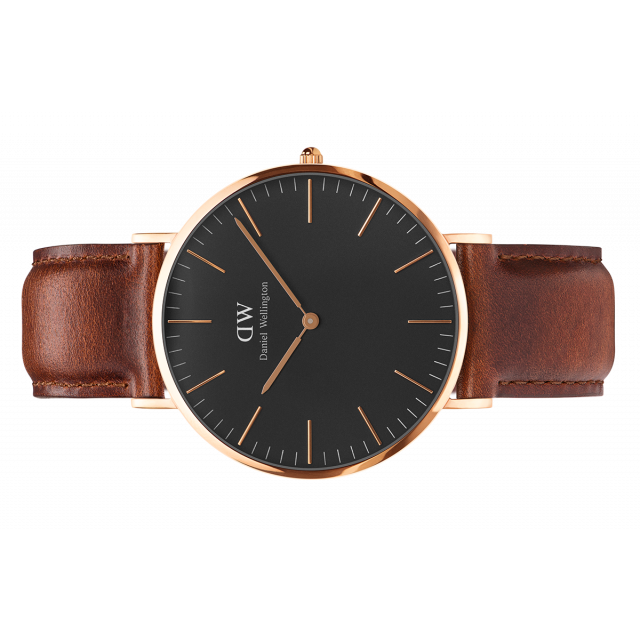 af37077da6ff9 CLASSIC BLACK BROWN STRAP SHEFFIELD 40MM  DANIEL WELLINGTON – EXXHIBIT LA  BOUTIQUE   MONDRIAN HOTEL