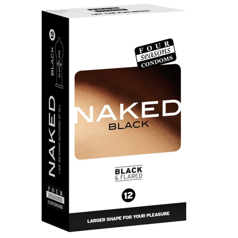 Naked Black and Flared Condoms by Four Seasons Condoms