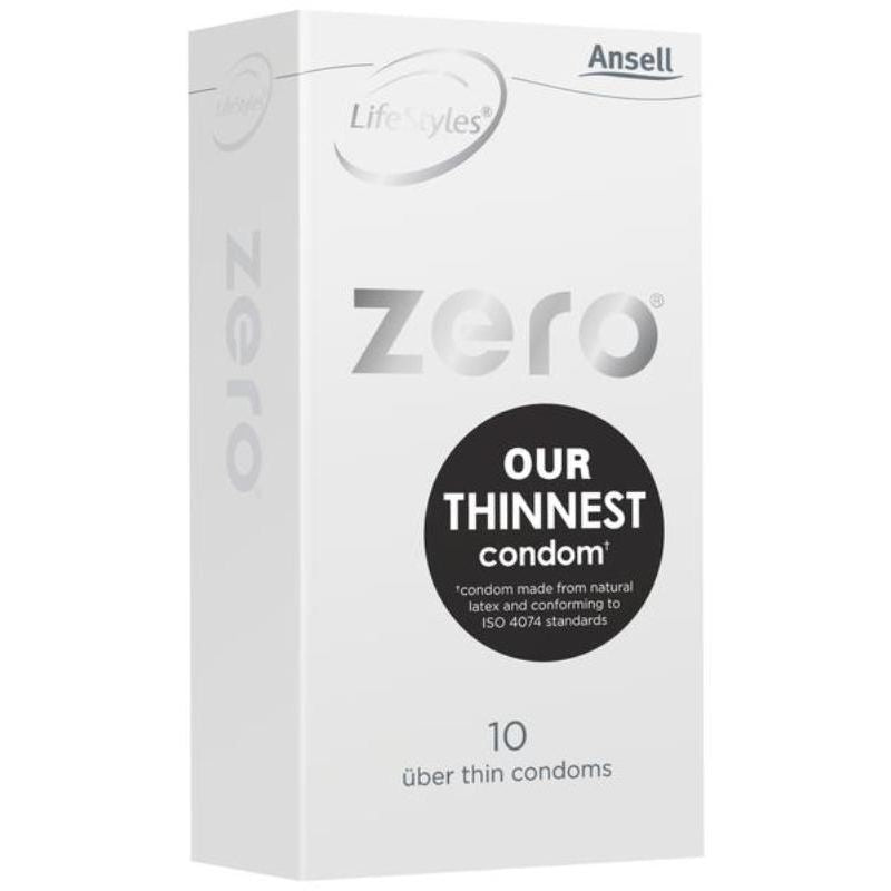 Zero Uber Thin Condom with Dots 10 pack by Ansell
