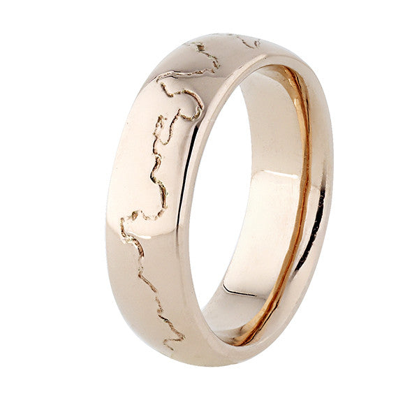 Coast Ring - 18ct Rose Gold - 6.0mm wide