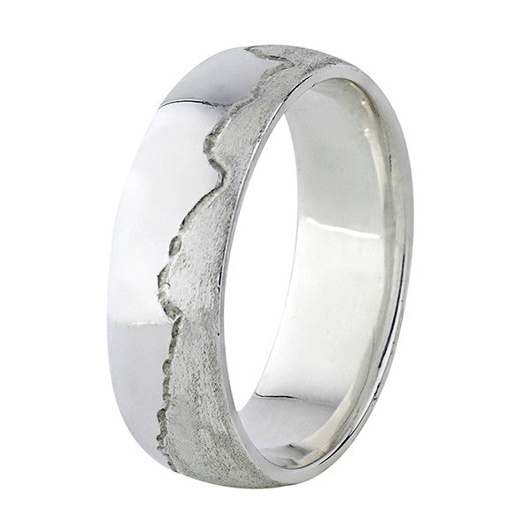 Coast Ring - 18ct White Gold - 6.0mm wide