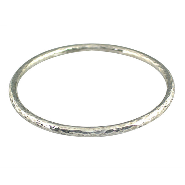 Silver Forged Bangle