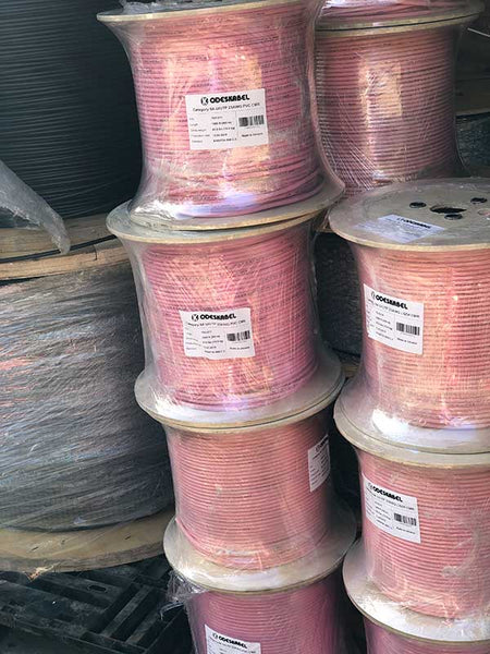 Warehouse in Orlando: Ethernet cable cat 6a Low Smoke PVC Riser cable UScomService - Pure solid copper UTP bulk 1000 ft spool