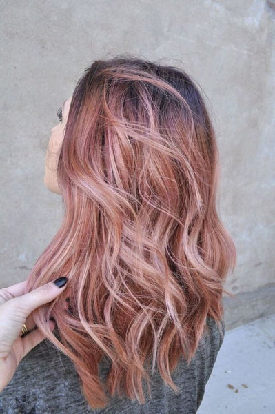 Rose gold, hair