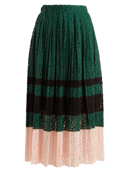 Green & blush skirt