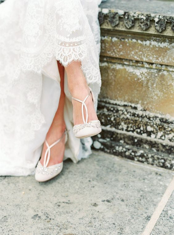 Emmy London Cecile Bridal Shoes on Feet