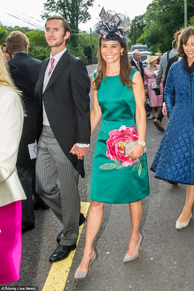 Pippa Middleton wearing Emmy London Rebecca Shoes and Accessories