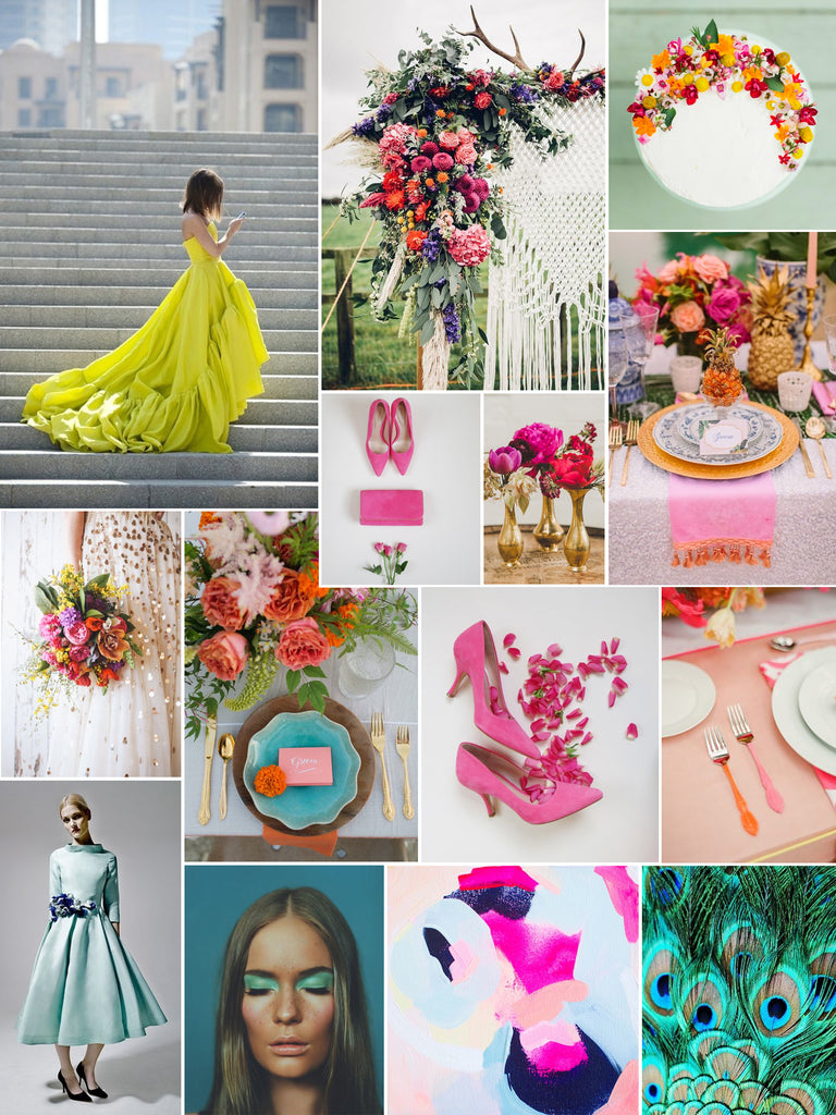 Emmy London Super Brights and Neon Wedding Inspiration