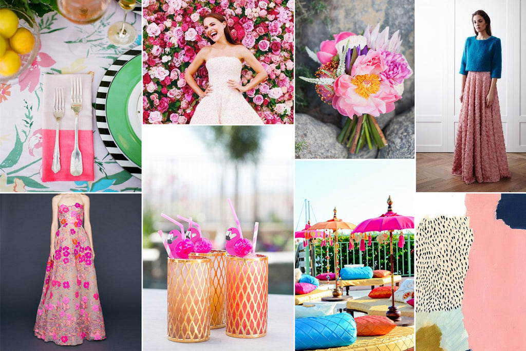 Emmy London Neon and Brights Bridal Wedding Inspiration