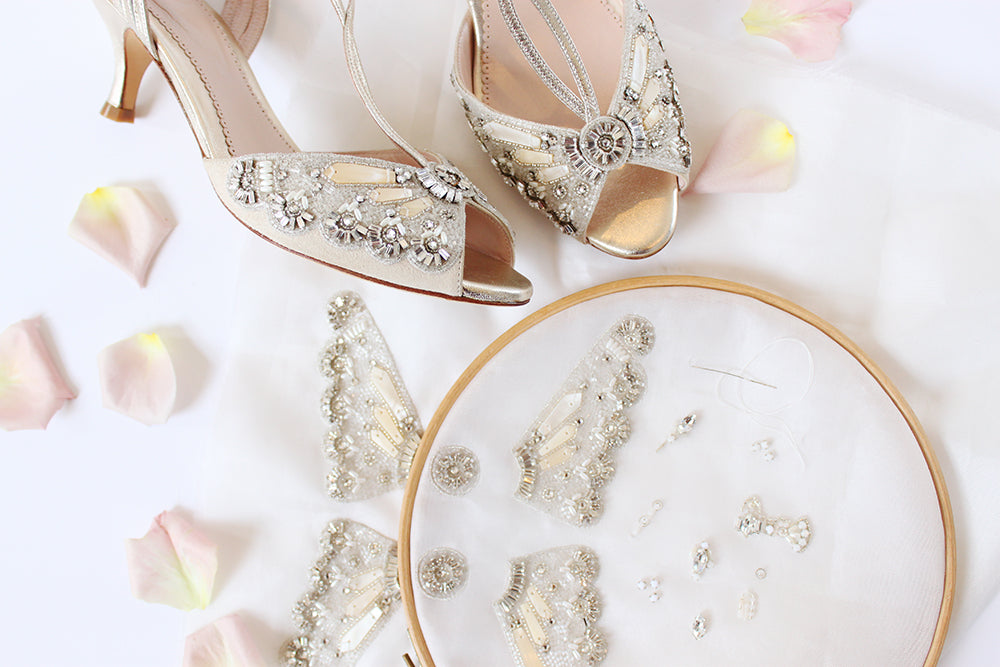 Craftsmanship Emmy London Hand Beaded Embellishment Wedding Shoes and Accessories