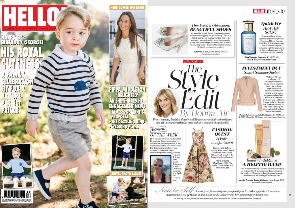 Hello Magazine Emmy London Donna Air Column Prince George Pippa Middleton