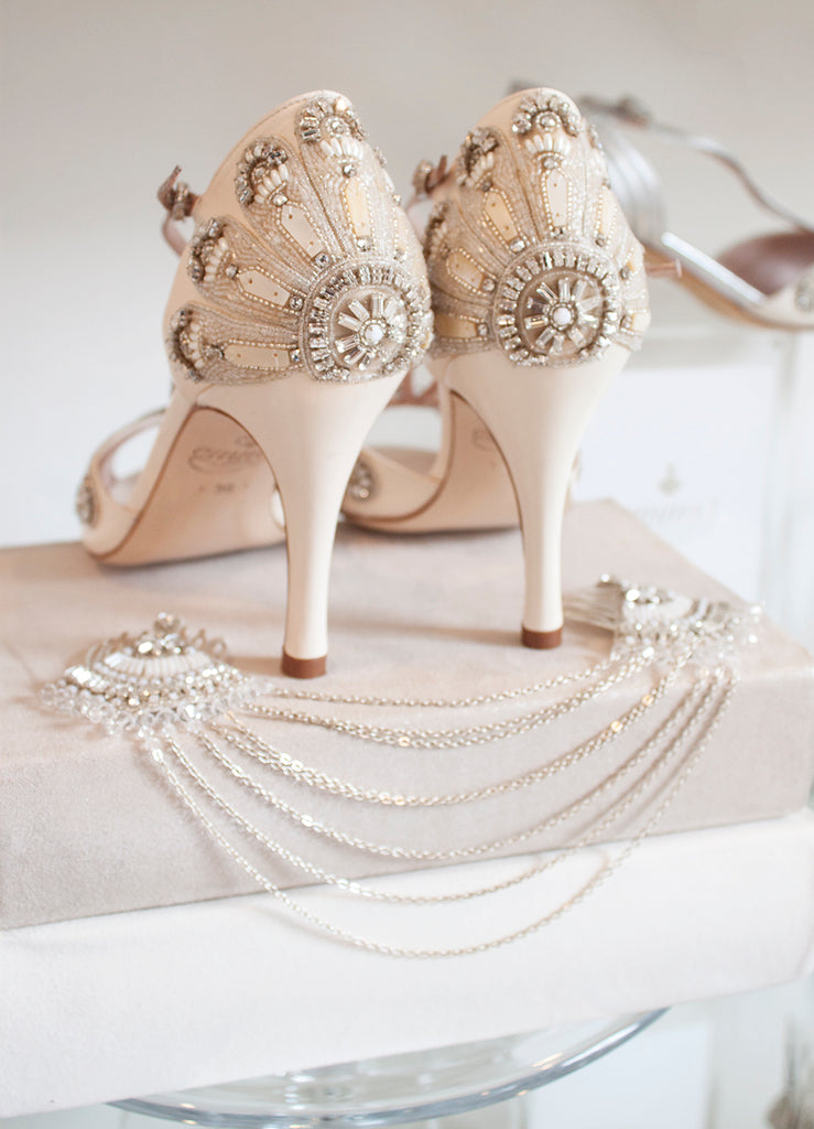 Francesca_Shoes_and_Double_Fan_Drape_Bridal_Shoes_Art_Deco_Emmy_London