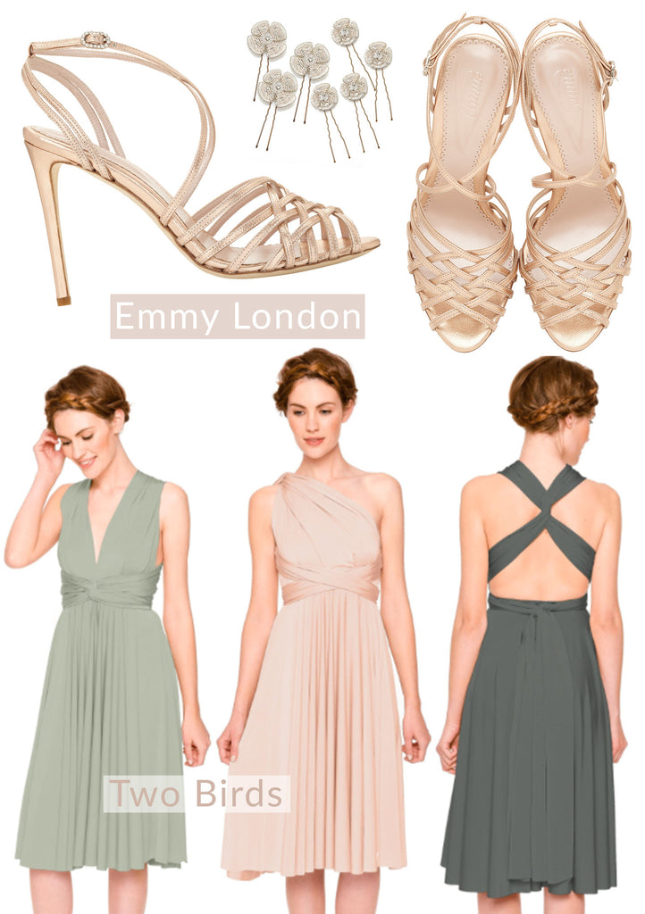 Madeleine Rose Gold Sandals from Emmy London Bridesmaid Shoes