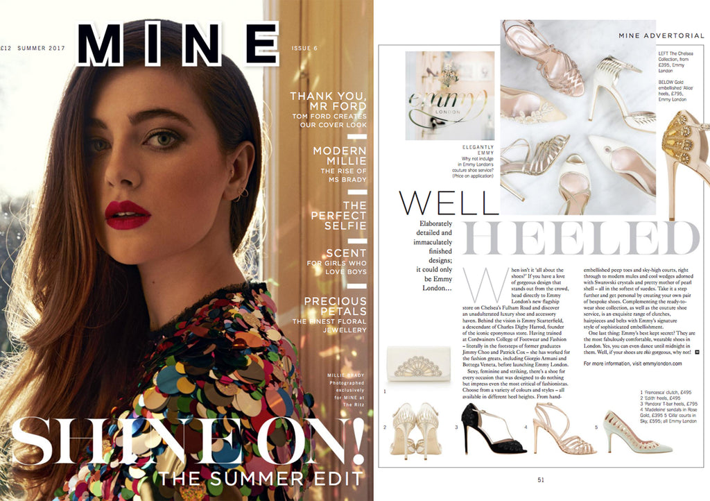 Mine Magazine Shine On Issue 7 with Emmy London Advertorial