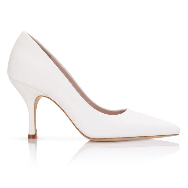 Olivia Ivory White Bridal Shoes by Emmy London