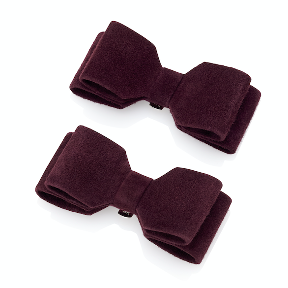 Claret Red Suede Shoe Clips by Emmy London Designer Shoes and Accessories