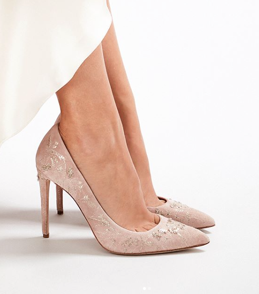 Meadow Misty Rose Wedding Shoes By Emmy London