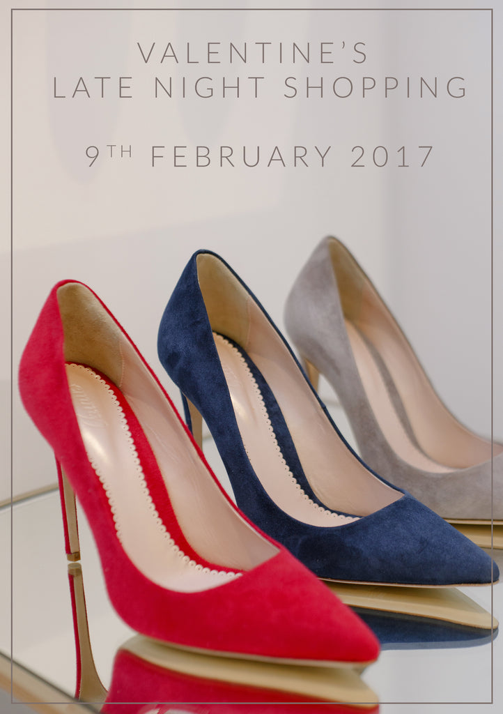 Valentine's Late Night Shopping Event for Luxury Shoes and Accessories Emmy London