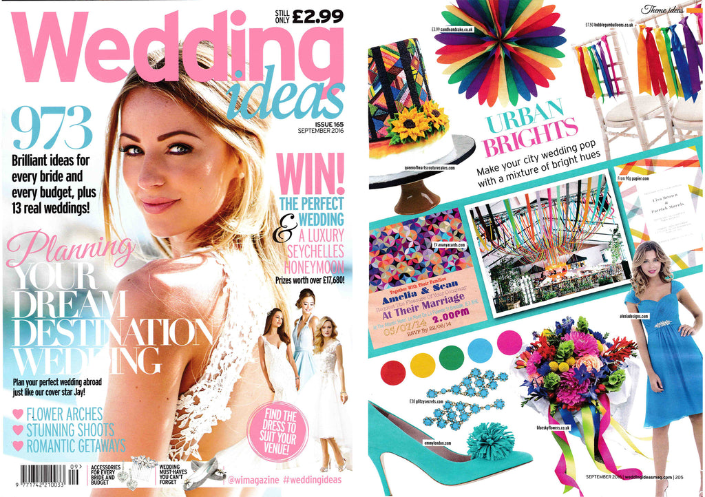 Wedding Ideas September 2016 Emmy London