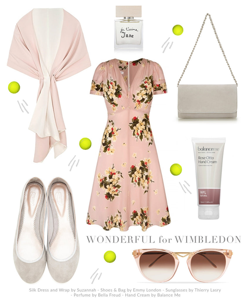 Wimbledon Inspired Outfit with Emmy London Shoes, Accessories, Suzannah Tea Dress
