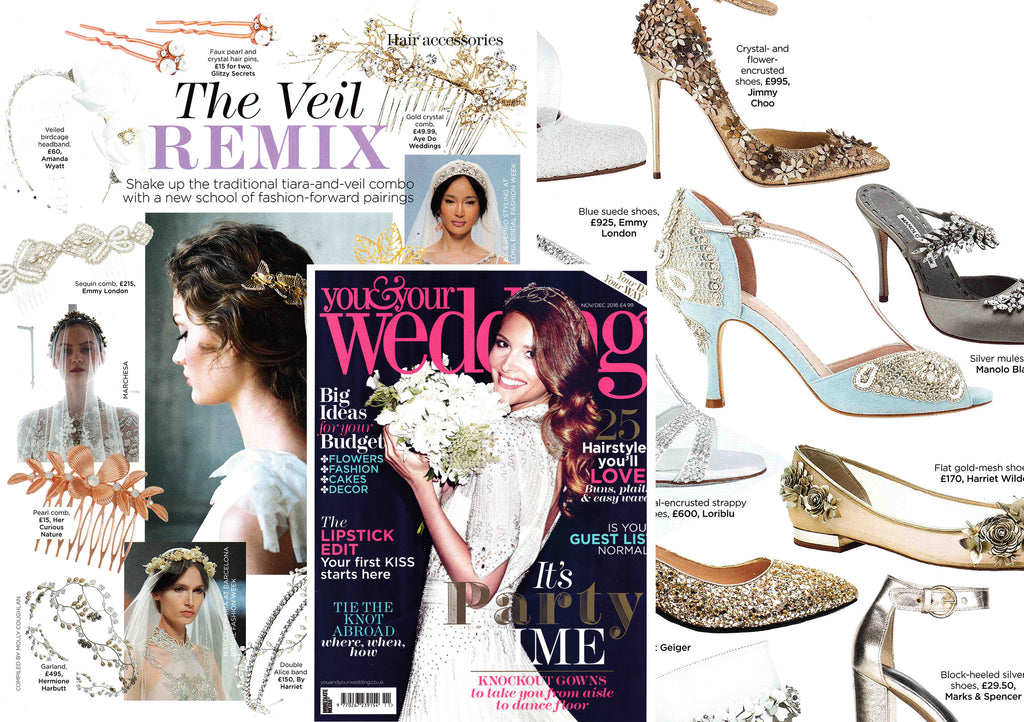 You and Your Wedding Magazine featuring Emmy London Shoes and Accessories