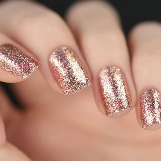 Rose gold, nails