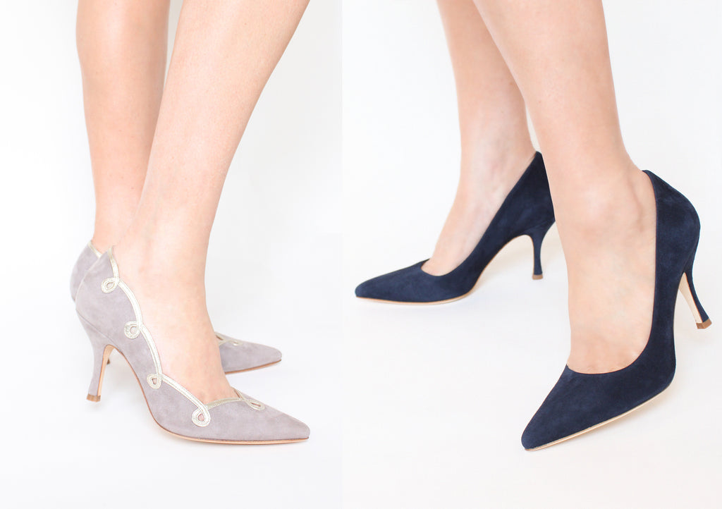 Molly and Olivia Event Collection Suede Court Shoes by Emmy London